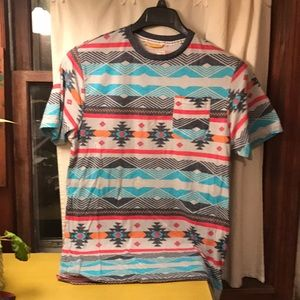 Free planet aztec tribal design t, size xl slim
